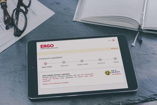 """U pojišťovny ERGO si sjednáte pojištění online na """"pár kliků""""."""